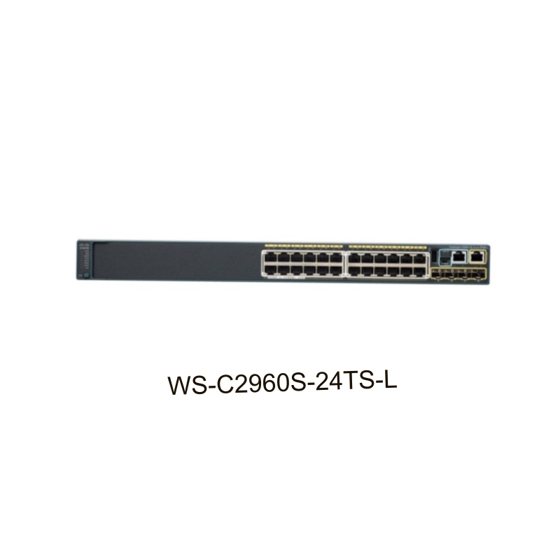 Cisco WS-C2960S-24PS-L Network Equipments Catalyst 2960S 24 GigE PoE 370W, 4 X SFP LAN Base